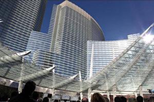 Shanghai Tower and City Center Las Vegas Entrance