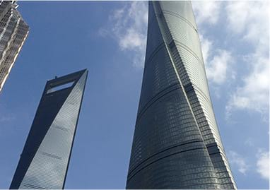 Shanghai Tower and City Center Las Vegas